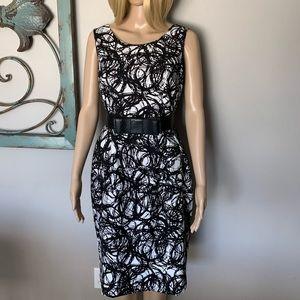 Gorgeous Kasper Midi Black/white dress! 🥰❤️😍